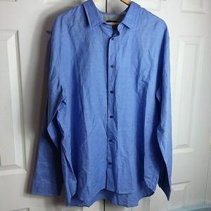 Vince Linen Blend Button Shirt Sz XXL NWT